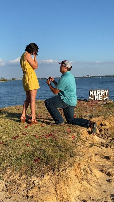 Was your proposal a surprise? Or did you see it coming?? 💍 10