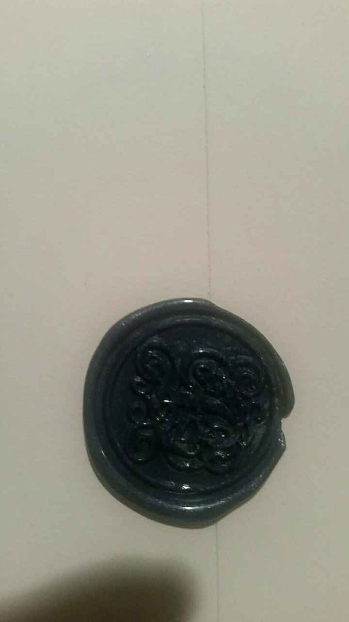 Wax seals on Save the Dates - 2