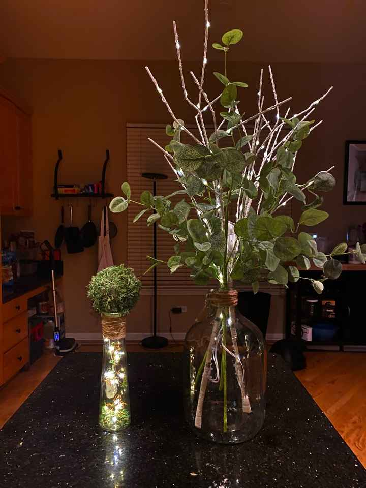 DIY Greenery Centerpieces and Aisle Decor