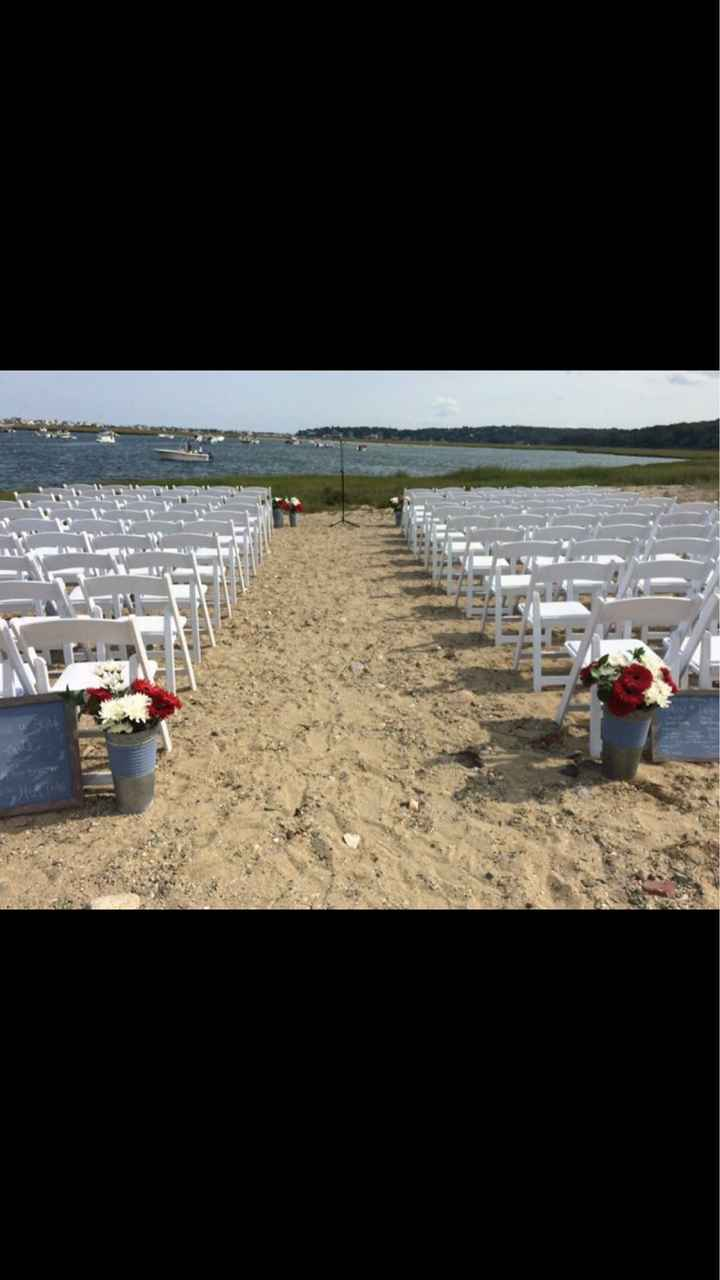 Outdoor ceremony without an arch - 1