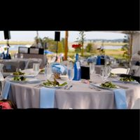 Outdoor reception,  table set up/lay out - 5