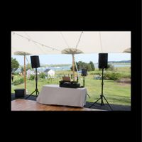 Outdoor reception,  table set up/lay out - 6