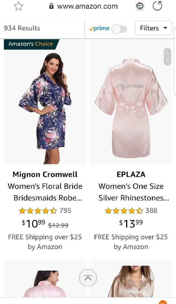 Pajamas/robes for Bridesmaids - 2