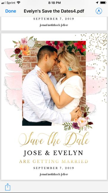 Which picture ? For save the date . 2