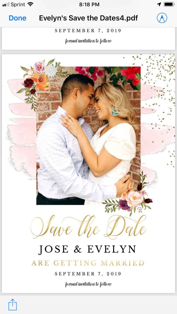 Which picture ? For save the date . - 2