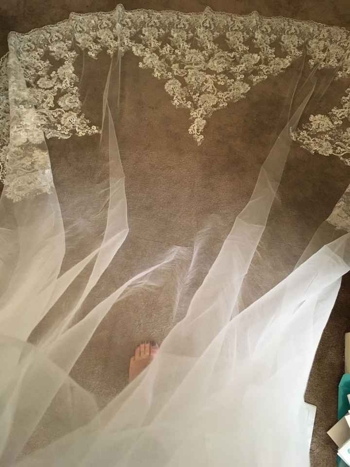 10-foot long veil