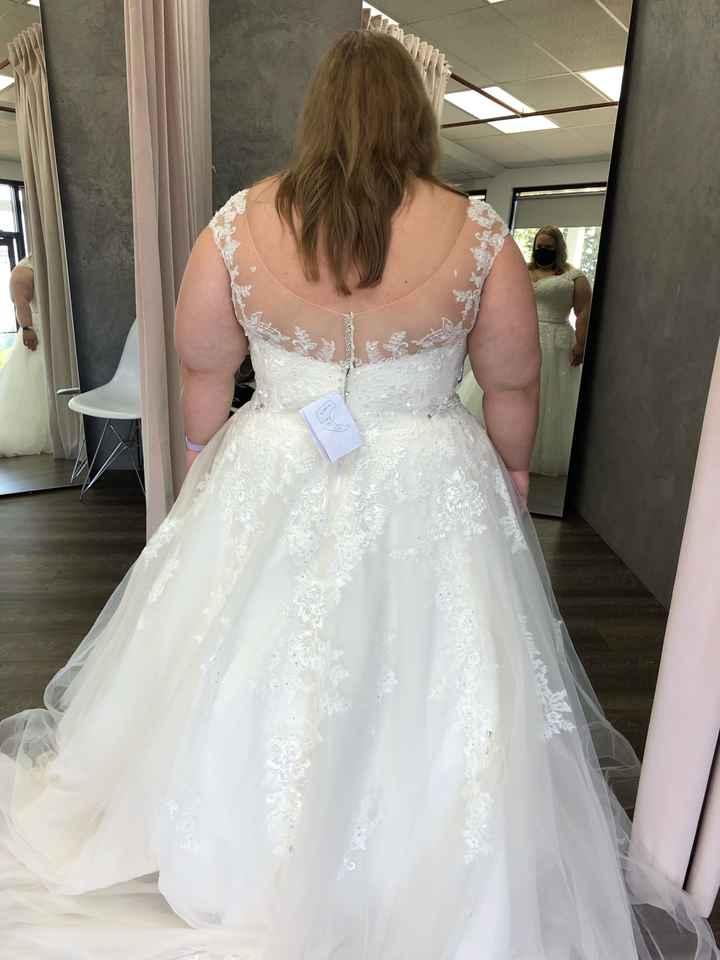Covered back wedding dresses - 1