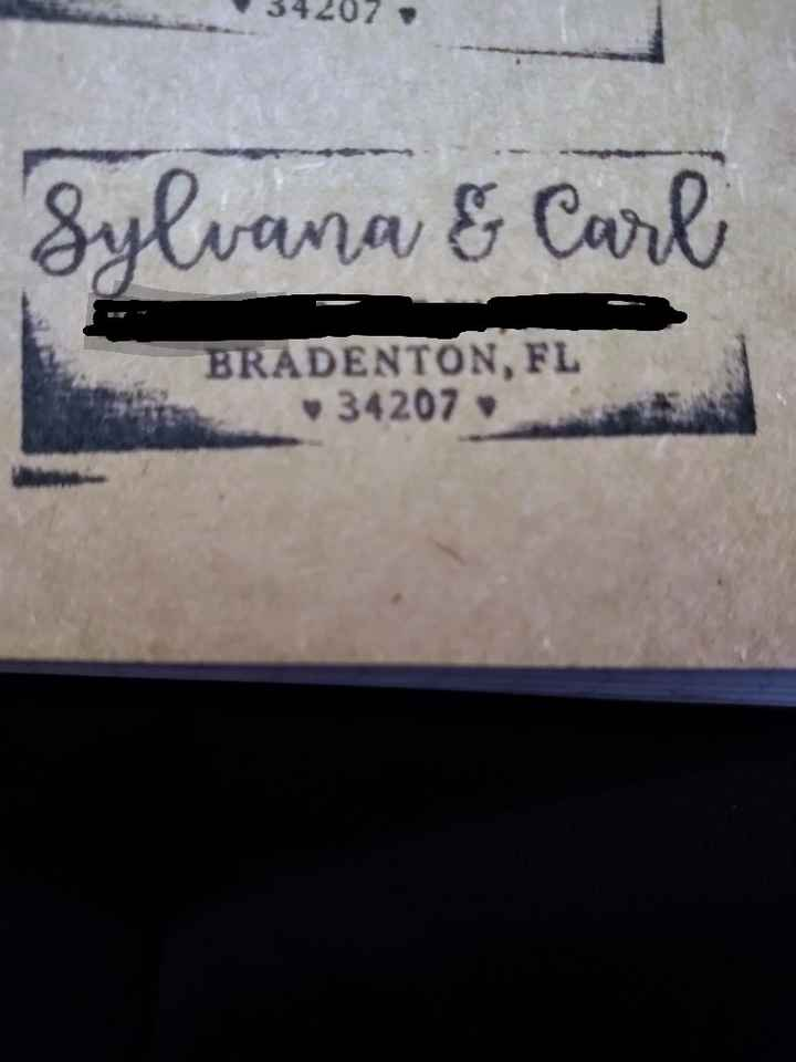 Cake topper and new address stamp arrived!!!!!! - 1
