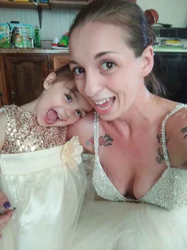My daughter and i in our dresses... - 1