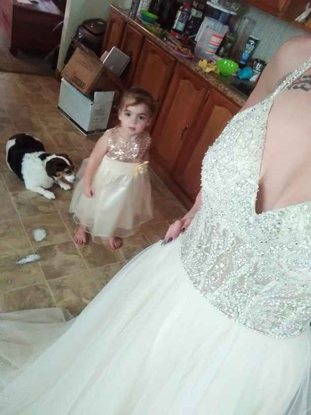 My daughter and i in our dresses... - 3