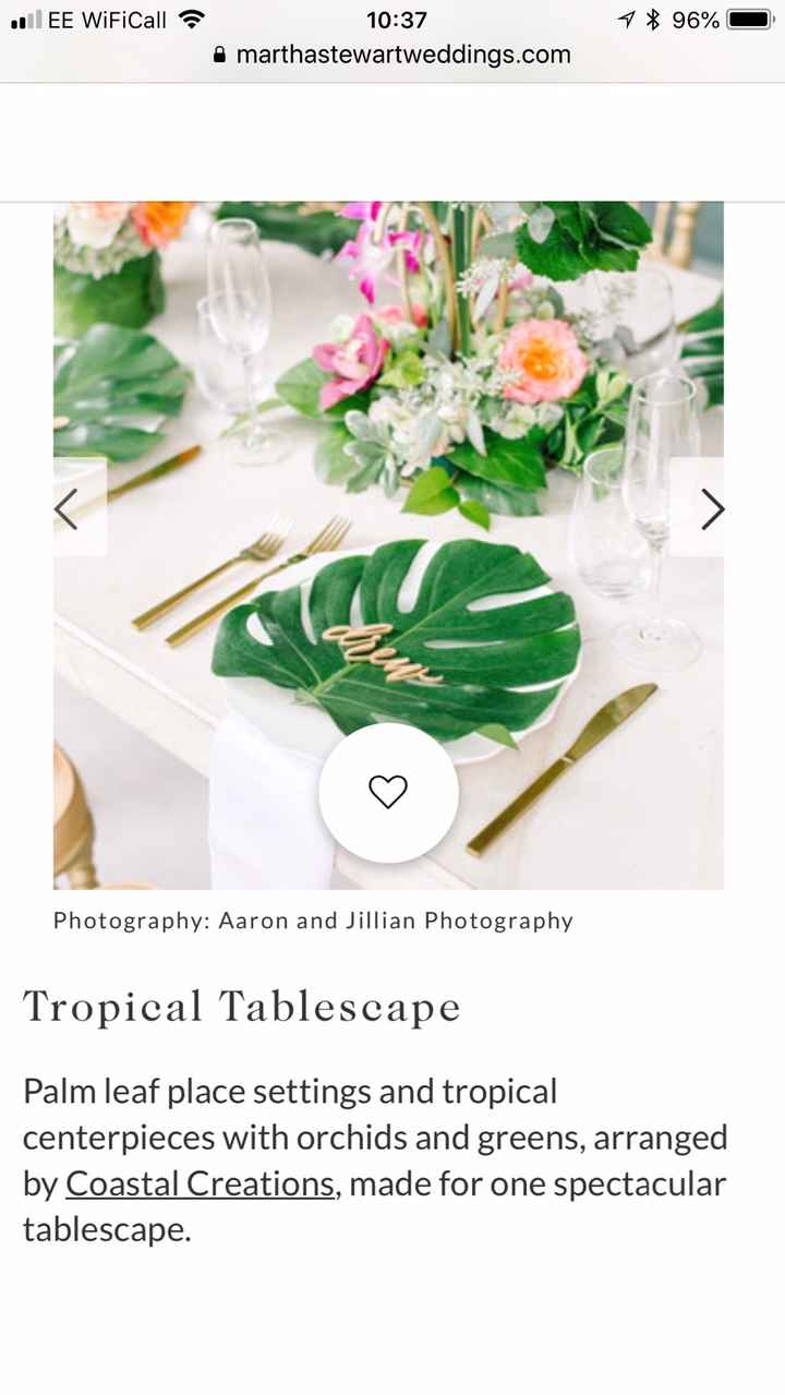 Table design - using these leaves