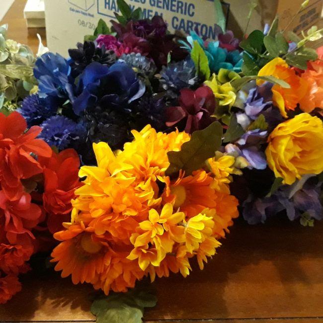 Rainbow Bride & Bridesmaid Bouquets - 1