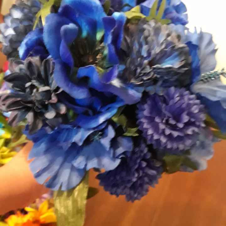 Rainbow Bride & Bridesmaid Bouquets - 6