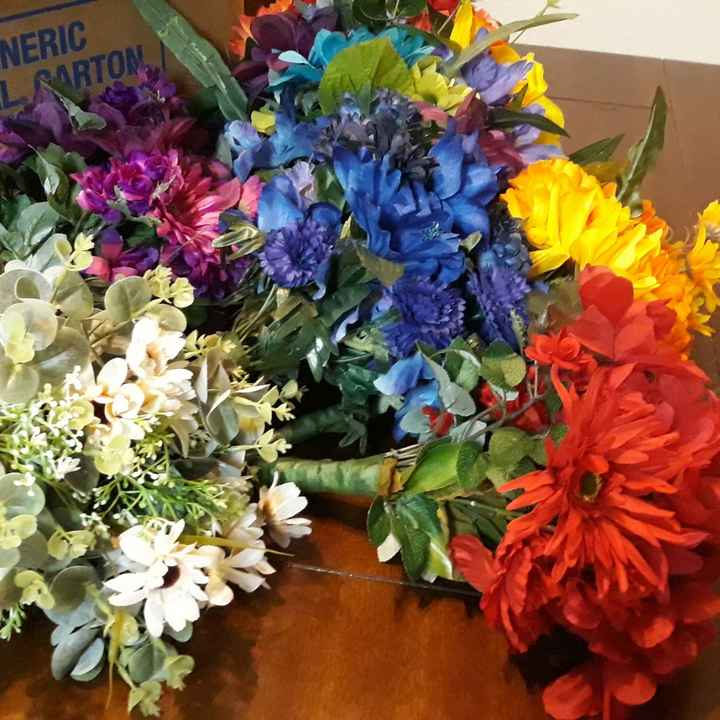 Rainbow Bride & Bridesmaid Bouquets - 8