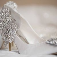 Wedding shoes: A hint of sparkle or big bling?