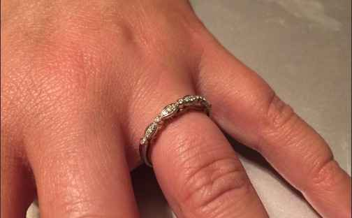 Ladies with cushion halo engagement rings