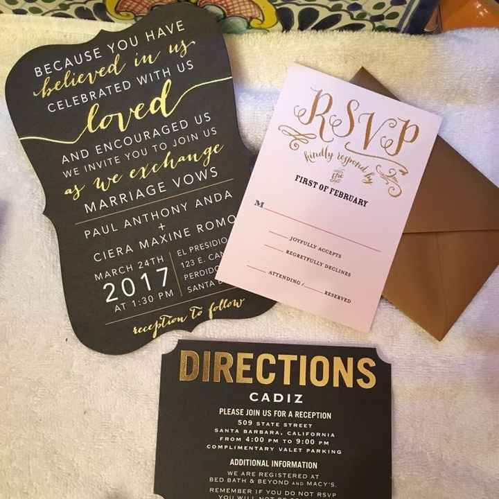 Let's see those Save the Dates and invites!