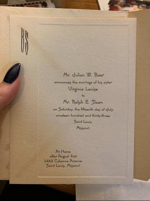 Grandmothers & Great-grandmothers Wedding Invitations - 2