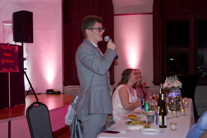Best man speech (my brother and our roommate before we got engaged)