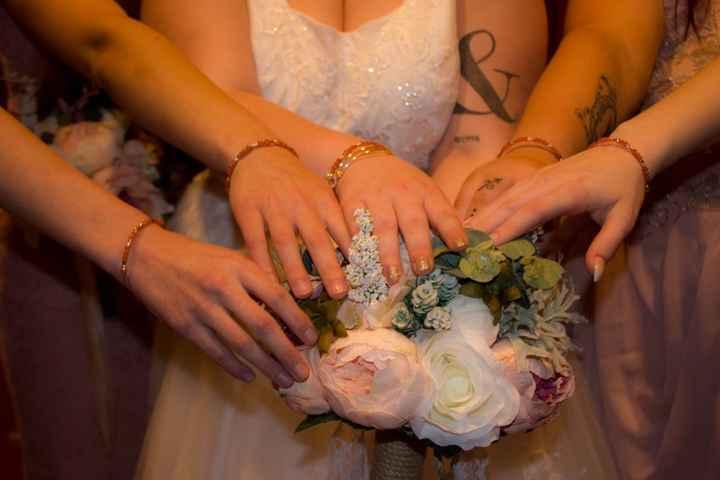 I got all of my bridesmaids matching bracelets