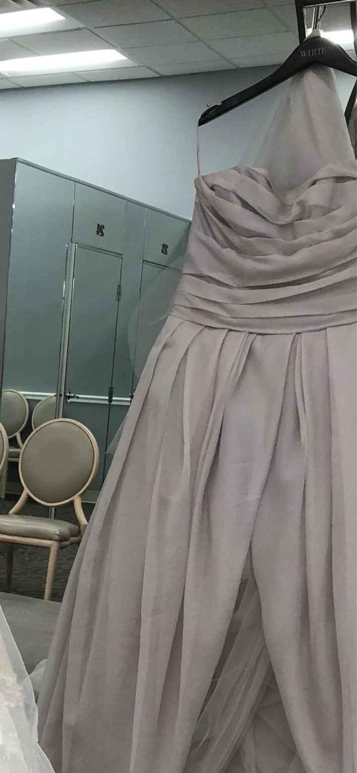 Smokey Grey Wedding Dress - 1