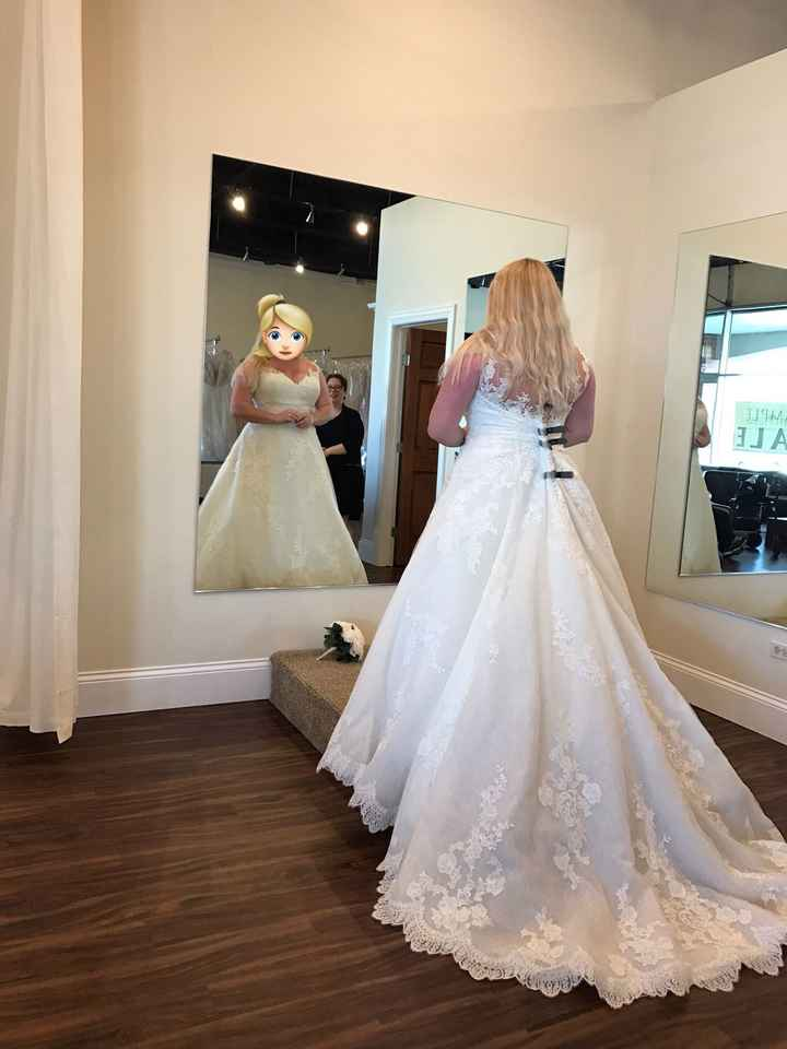Let's see your wedding dresses.
