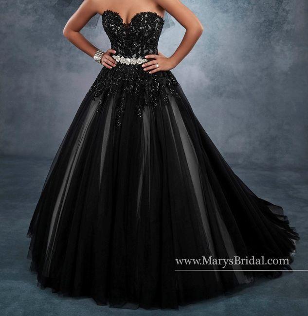 Black wedding dresses. 2