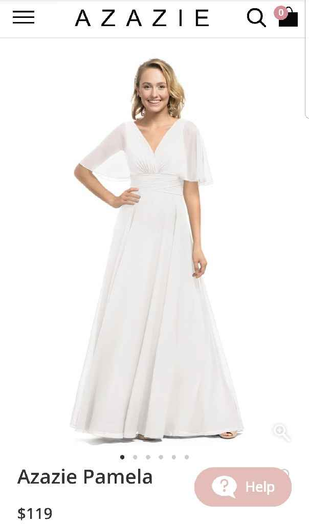 Using a bridesmaid dress in white or ivory as wedding dress? - 1