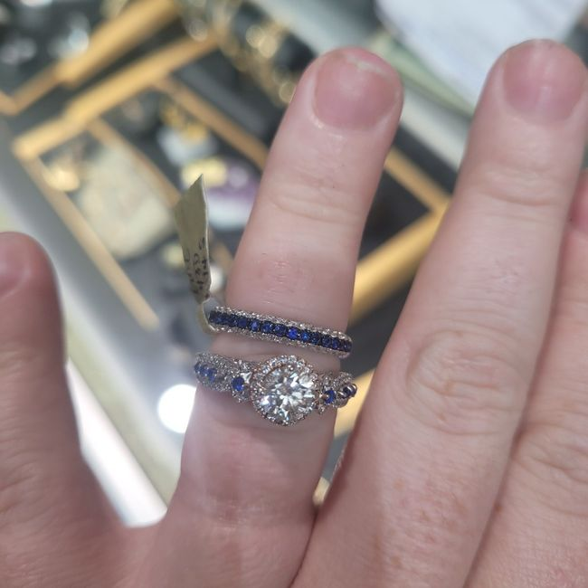 Brides and brides to be! i want to see your wedding bands or ideas for wedding bands! 6