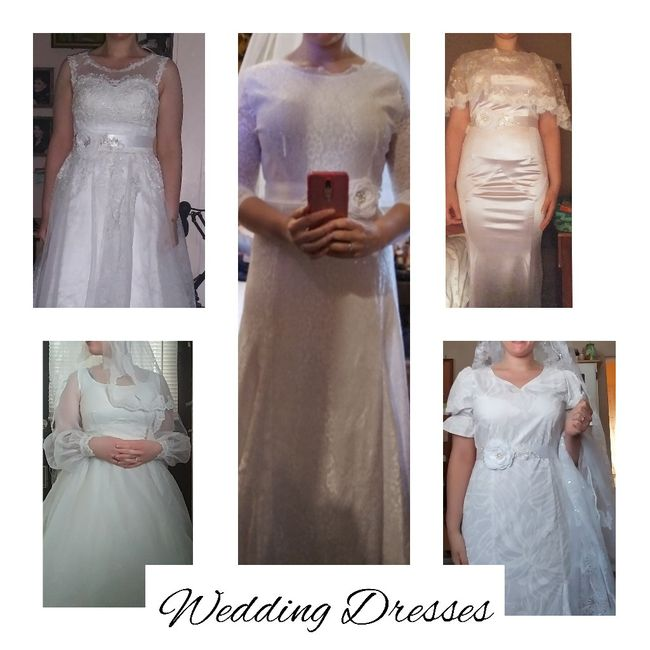 Let's see all the dresses you tried - good and bad 1