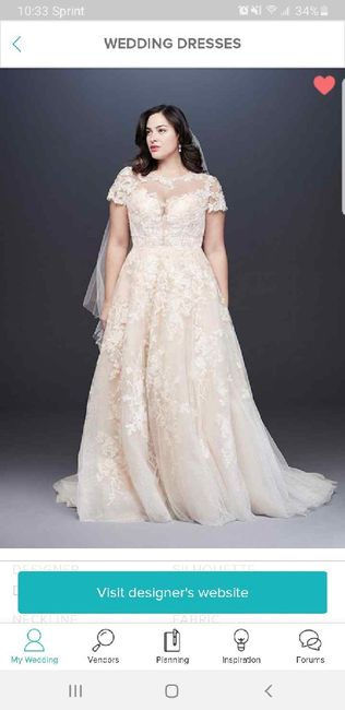 My wedding dress, i absolutely love it, adding sleeves!  Anyone else wearing a ball gown?? 11