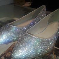 Crystal sparkling bridal flats - 1