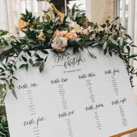 How are you letting guests know where they are sitting for the reception? - 1