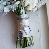 bouquet with charms and bracelet