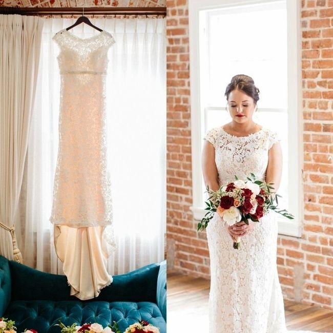 Gold and Ivory Wedding Dress