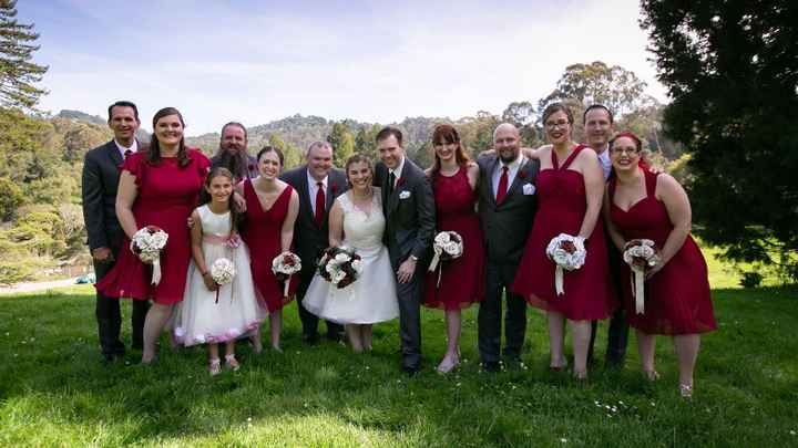 The whole wedding party