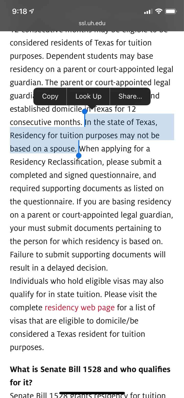 Establishing Residency Out of State - 1