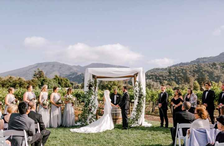 Outdoor wedding dress style - 1