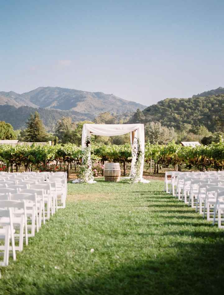 Bride with outdoor Fall weddings. What type of decor are you going with? - 1