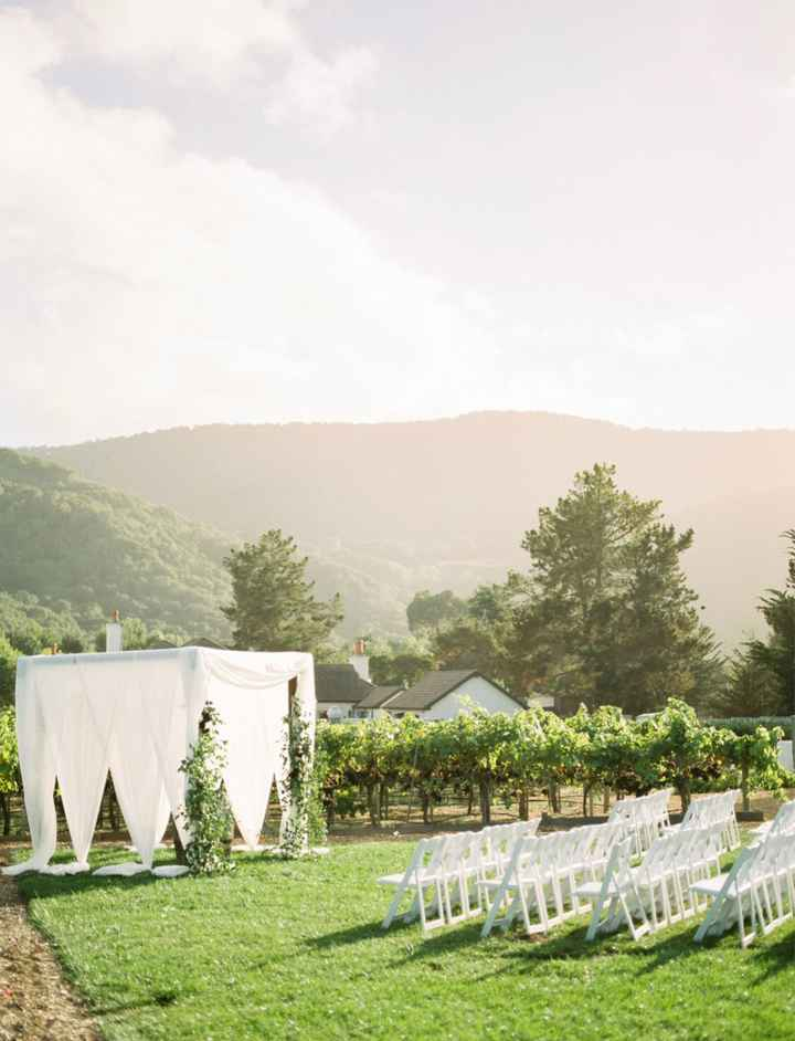 Bride with outdoor Fall weddings. What type of decor are you going with? - 2