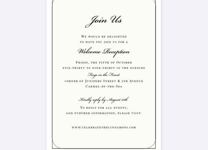 Invitations! rsvp card for online response - 1