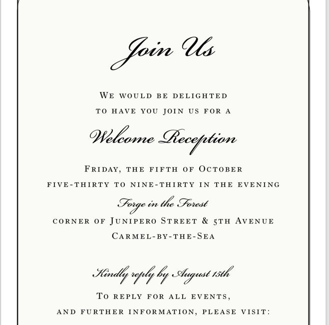 Wedding Welcome Dinner Invitation Wording: Wording For A Welcome Party Invite