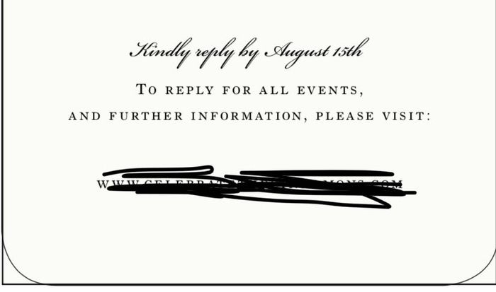 Details And Rsvp Online On Same Card Weddings Etiquette And
