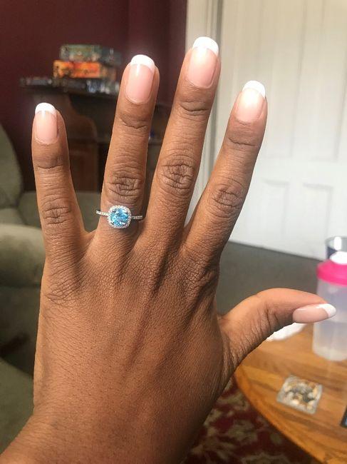 Blue wedding ring 6
