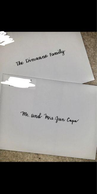 Handwritten or Calligraphy - Wedding Invites 2