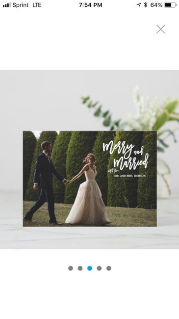 Are you sending holiday cards as a couple? 7
