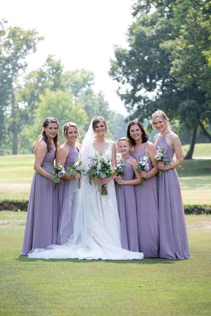 Blush/ivory gown- what color for bridesmaids? 9
