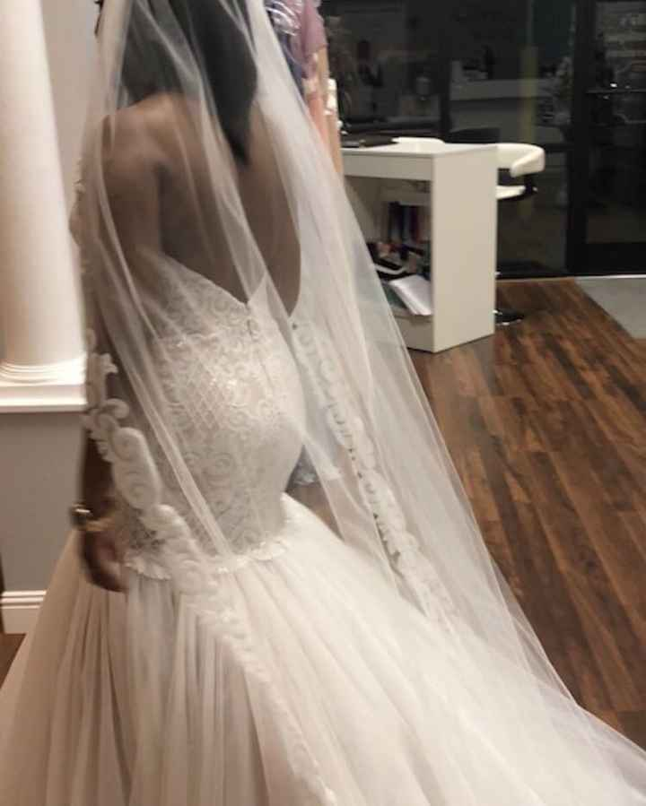 Who else loves lace?  Show off your lace dresses and/or veils! - 1