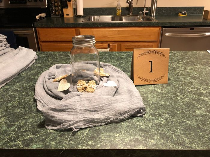 Cheese cloth table runners 3