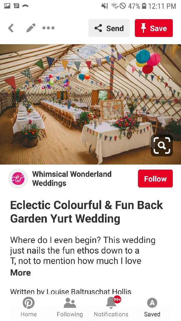 i want to see everyone's bright colored decor! - 3